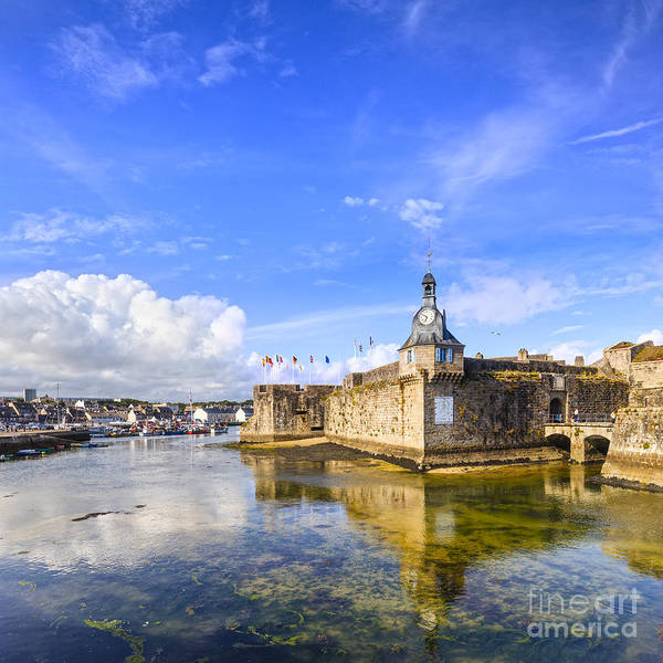 Town Square Wall Art - Photograph - Old Town Walls Concarneau Brittany by Colin and Linda McKie