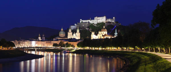 Wall Art - Photograph - Old Town With Hohensalzburg Castle by Panoramic Images