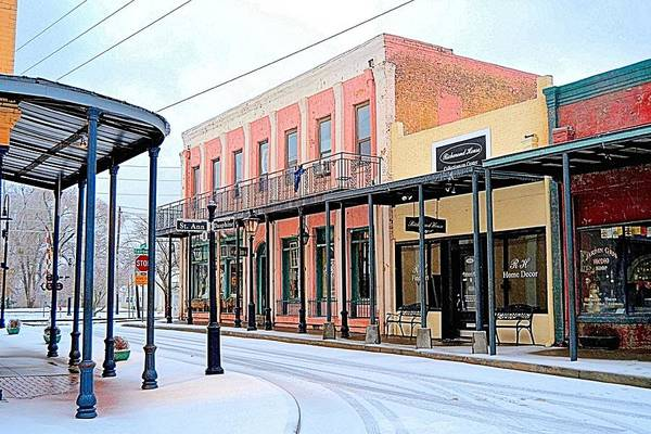 Conyers Photograph - Old Towne Center Street by James Potts