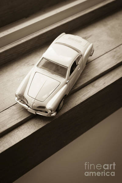 Photograph - Old Toy Car On The Window Sill by Edward Fielding