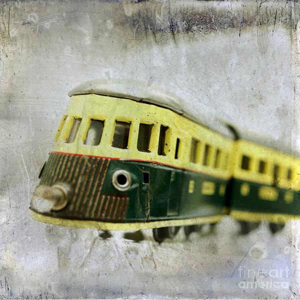 Out Of Focus Wall Art - Photograph - Old Toy-train by Bernard Jaubert