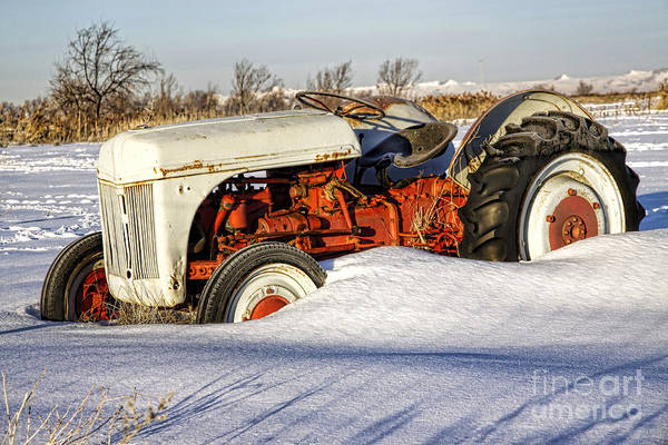 Photograph - Old Tractor In The Snow by Richard Lynch
