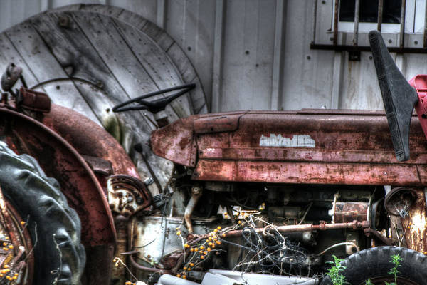 Mixed Media - Old Tractor - Series Xiv by Doc Braham