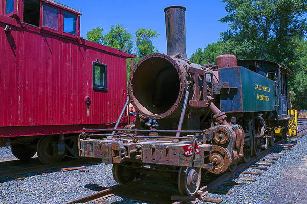 Number One Wall Art - Photograph - Old Train Engine by Garry Gay