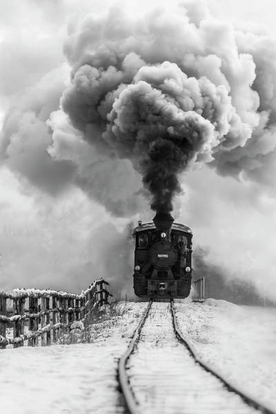 Steam Engine Photograph - Old Train by Sveduneac Dorin Lucian