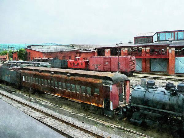 Photograph - Old Train Yard by Susan Savad
