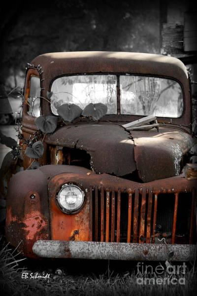 Photograph - Old Truck 01 by E B Schmidt
