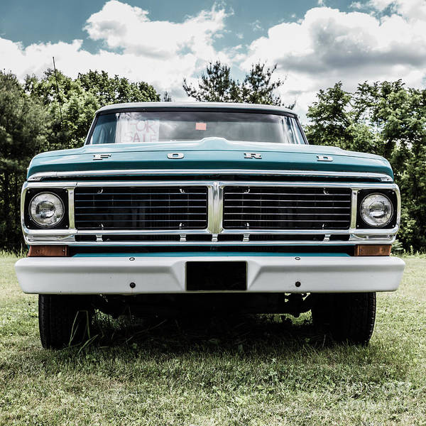 Wall Art - Photograph - Old Ford Truck For Sale by Edward Fielding