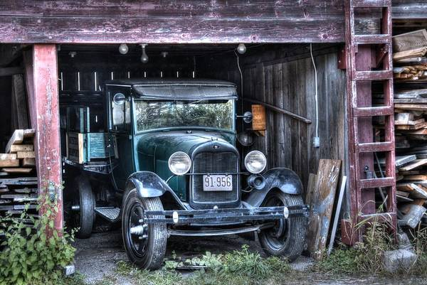 Photograph - Old Truck In The Shed by Donald Williams