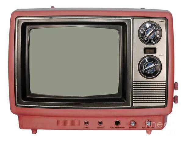 Vintage Tv Set Art Print