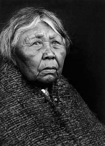 Indigenous Wall Art - Photograph - Old Twana Woman Circa 1913 by Aged Pixel