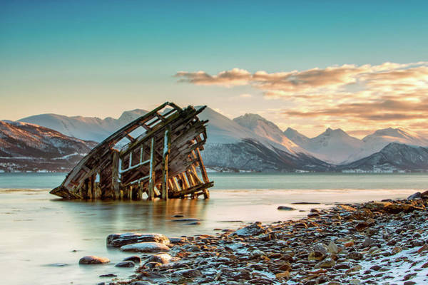 Wall Art - Photograph - Old Viking Shipwreck In Tisnes Near by Daniel Osterkamp