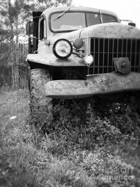 Photograph - Old Vintage Dodge Work Truck by Edward Fielding