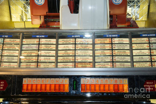 Photograph - Old Vintage Jukebox Dsc2758 by Wingsdomain Art and Photography