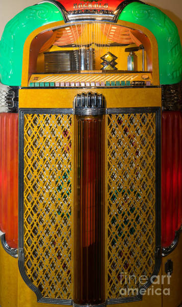 Photograph - Old Vintage Rock Ola Jukebox Dsc2785 by Wingsdomain Art and Photography