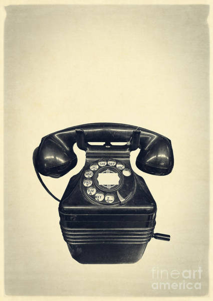 Pay Photograph - Old Vintage Telephone by Edward Fielding