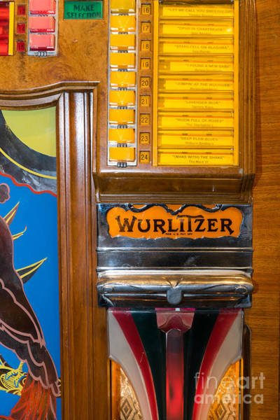 Wurlitzer Photograph - Old Vintage Wurlitzer Jukebox Dsc2780 by Wingsdomain Art and Photography