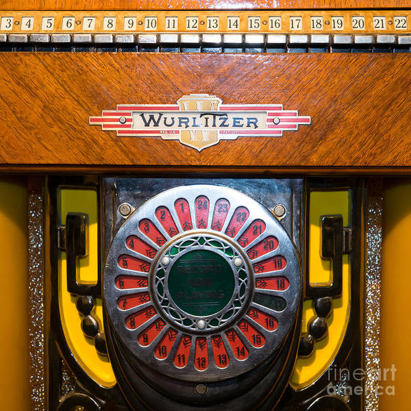 Wurlitzer Photograph - Old Vintage Wurlitzer Jukebox Dsc2809 Square by Wingsdomain Art and Photography