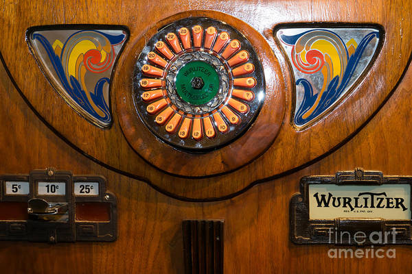Photograph - Old Vintage Wurlitzer Jukebox Dsc2822 by Wingsdomain Art and Photography