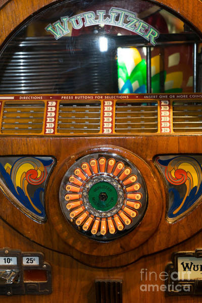 Wurlitzer Photograph - Old Vintage Wurlitzer Jukebox Dsc2823 by Wingsdomain Art and Photography