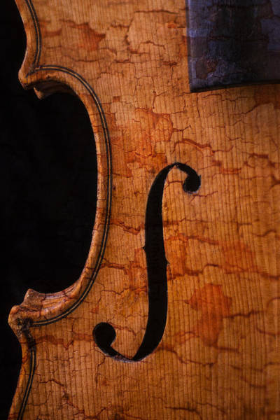 Bluegrass Photograph - Old Violin Close Up by Garry Gay