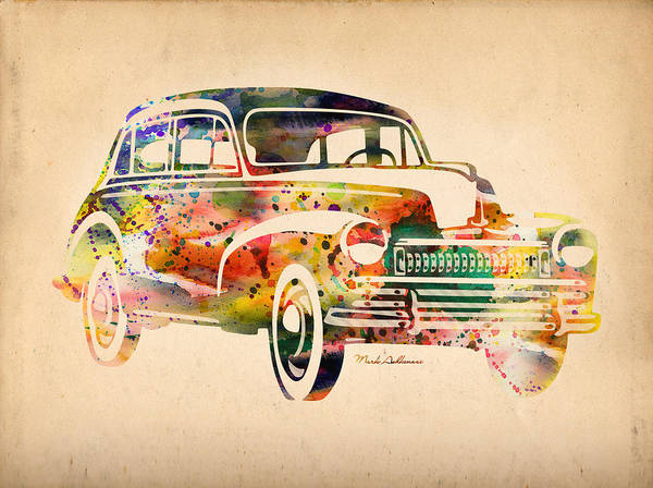 Cool Car Digital Art - Old Volkswagen by Mark Ashkenazi