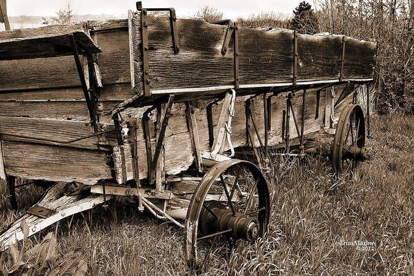 Photograph - Old Wagon - Sepia by Ericamaxine Price