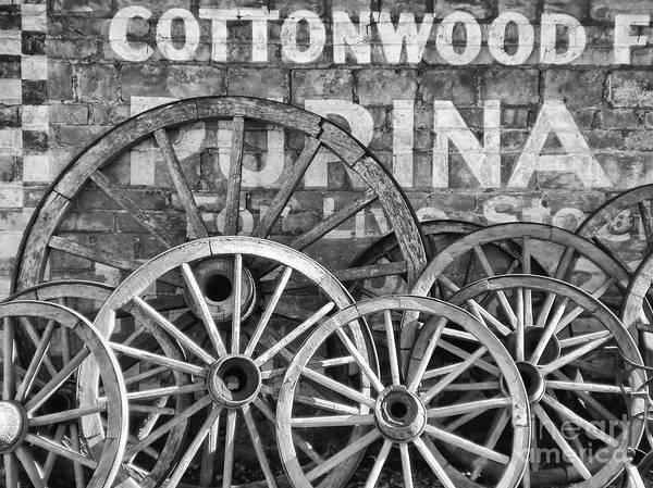 Settlers Photograph - Old Wagon Wheels by Paul Quinn