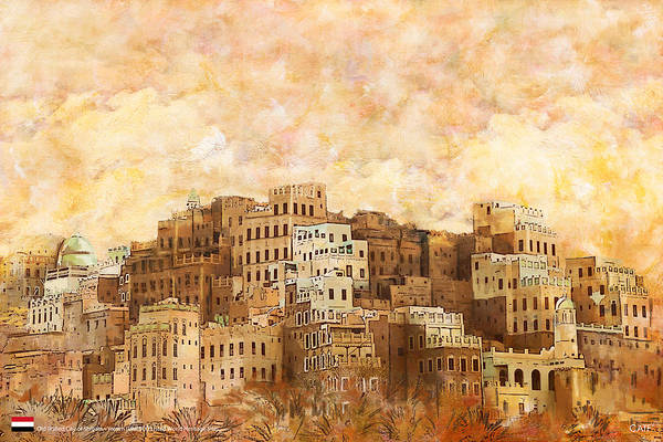 Wall Art - Painting - Old Walled City Of Shibam by Catf