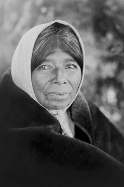 1924 Photograph - Old Wappo Woman Circa 1924 by Aged Pixel