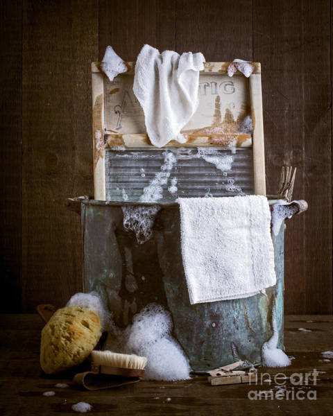 Toil Photograph - Old Wash Tub by Edward Fielding