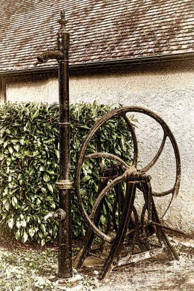 Wall Art - Photograph - Old Water Pump by Olivier Le Queinec