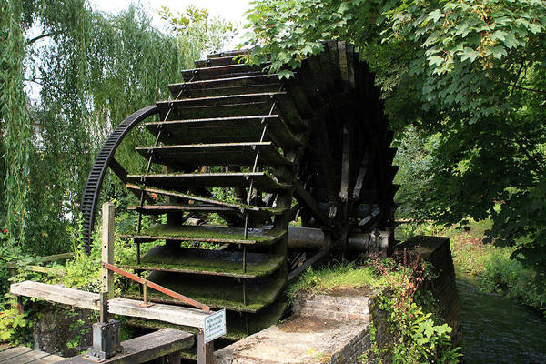 Photograph - Old Waterwheel by Aidan Moran