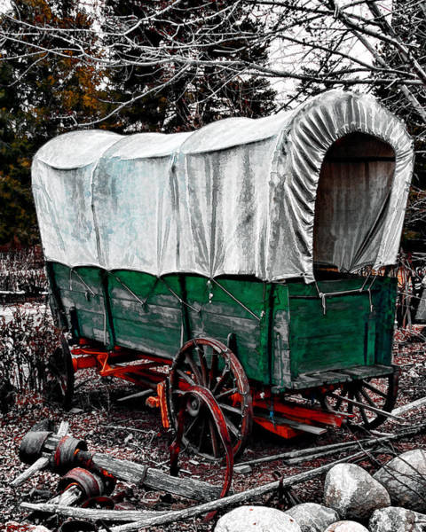 Photograph - Old West Covered Wagon by William Havle