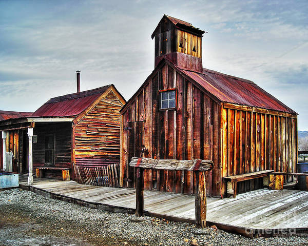 Photograph - Old West Hitching Post Hdr by James Eddy