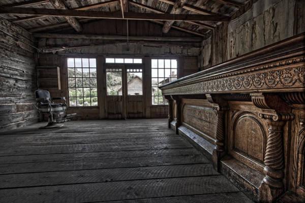 Wall Art - Photograph - Old West Saloon Bar -- Bannack Ghost Town Montana by Daniel Hagerman