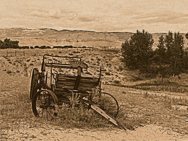 Photograph - Old West Wagon by Leland D Howard