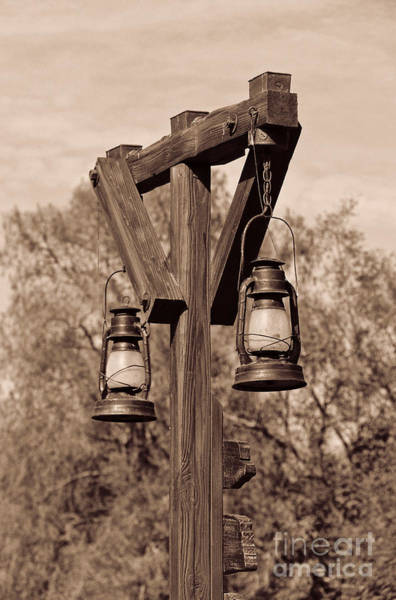 Wall Art - Photograph - Old Western Kerosene Lamp Post by Lee Dos Santos