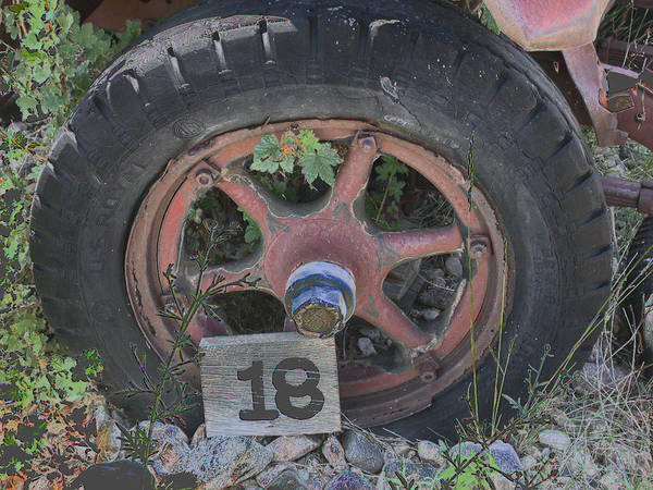 Photograph - Old Wheel by David Armstrong