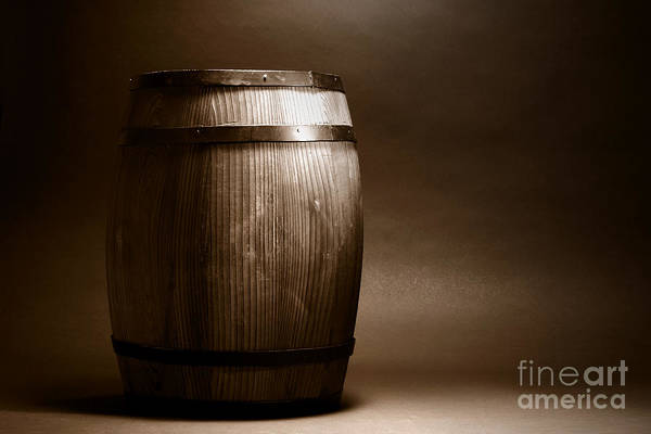 Photograph - Old Whisky Barrel by Olivier Le Queinec