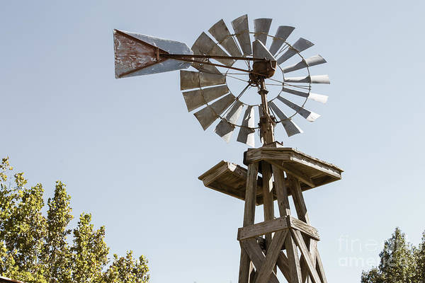 Photograph - Old Windmill In Antique Color 3009.02 by M K Miller
