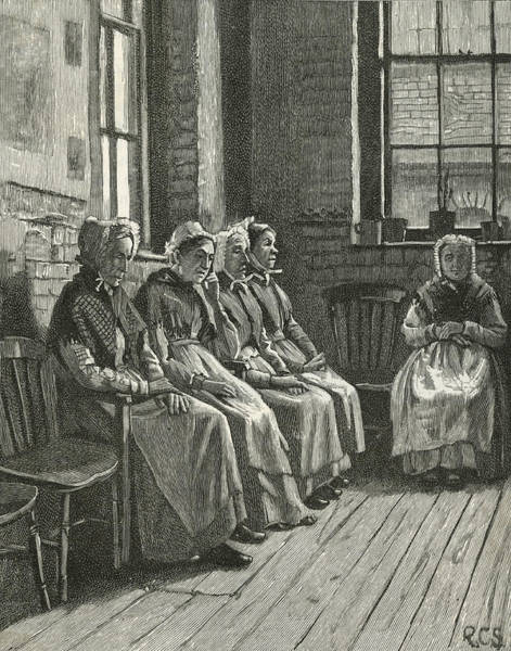 Rust Drawing - Old Women 'rusting Out' In The by Mary Evans Picture Library