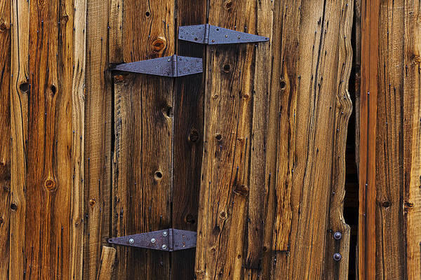 Hinges Photograph - Old Wood Barn by Garry Gay