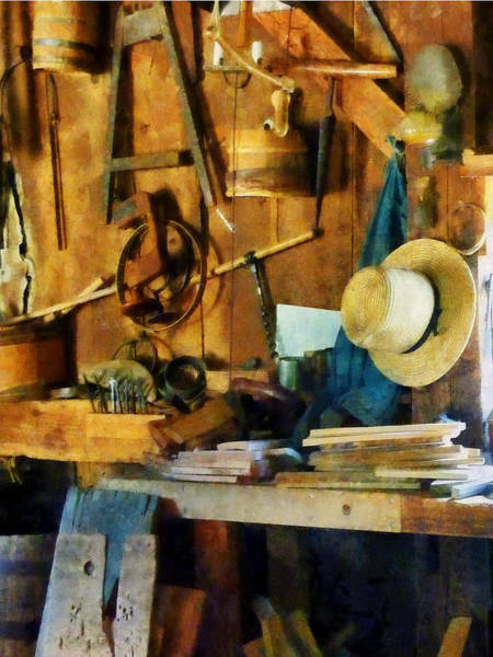 Photograph - Old Wood Shop by Susan Savad
