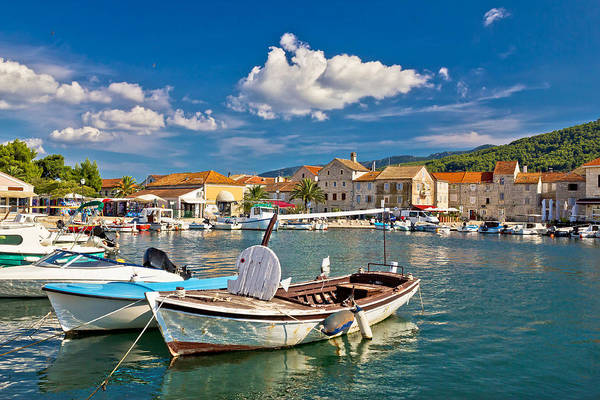 Starigrad Photograph - Old Wooden Boats In Stari Grad by Brch Photography