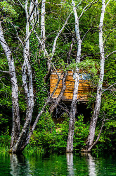 Photograph - Old Wooden Cabin by Sotiris Filippou