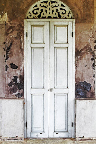 Handle Photograph - Old Wooden Door by Aprilfoto88