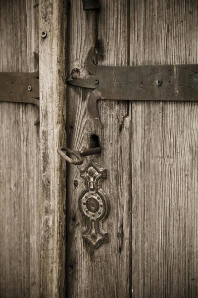 Photograph - Old Wooden Door by Maria Heyens