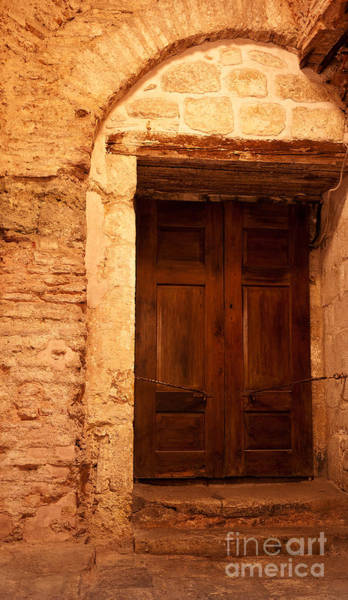 Sancta Sophia Photograph - Old Wooden Doors by Rick Piper Photography