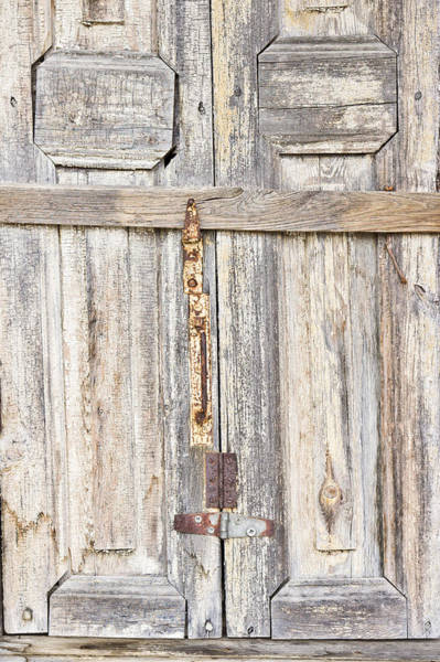 Hinges Photograph - Old Wooden Doorway by Tom Gowanlock